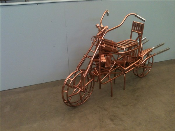 Copper Art Bike