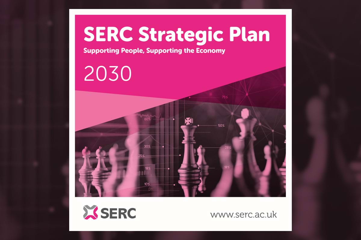Showing the cover of the PDF to the SERC Strategic Plan 2030