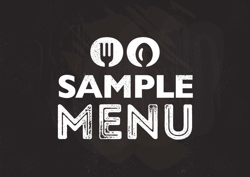 The sample menu logo